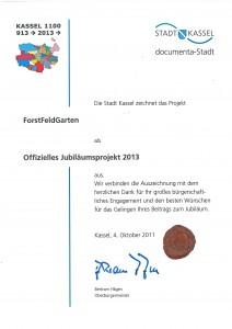 Jubiläumsprojekt 2013